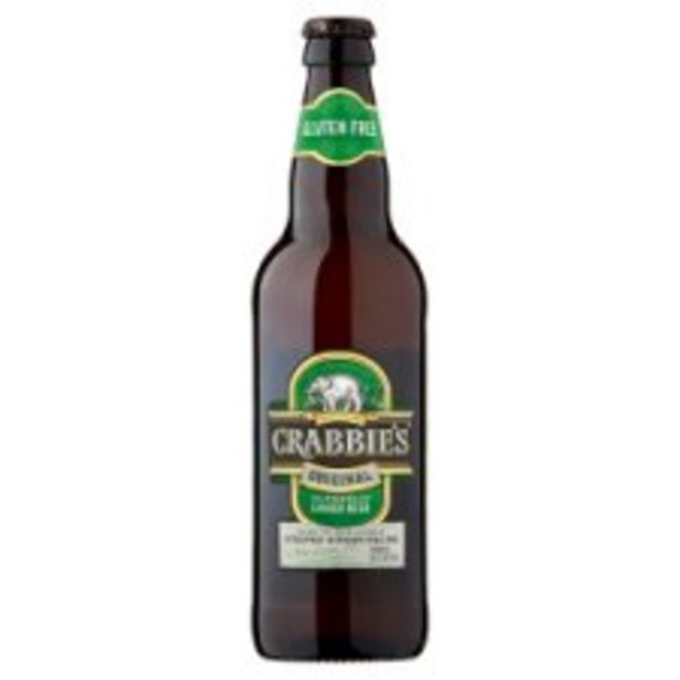 Crabbies Alcoholic Ginger Beer 500Ml offer at £1.7