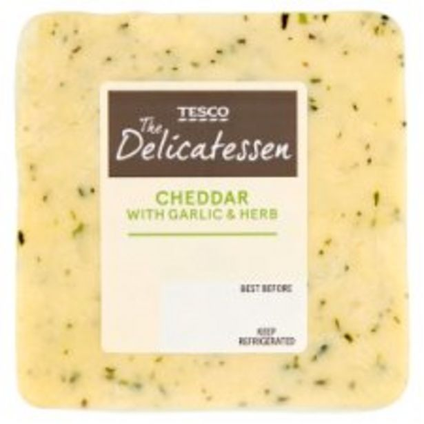 Tesco Cheddar With Garlic & Herb 190G offer at £2.2