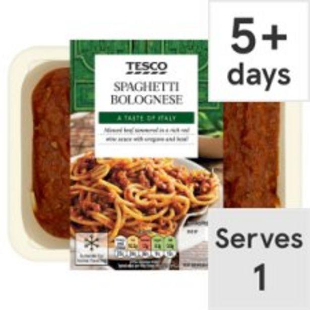 Tesco Spaghetti Bolognese 450G offer at £2.5