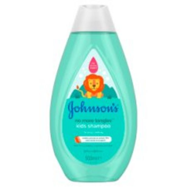 Johnson's Kids No More Tangles Shampoo 500Ml offer at £2