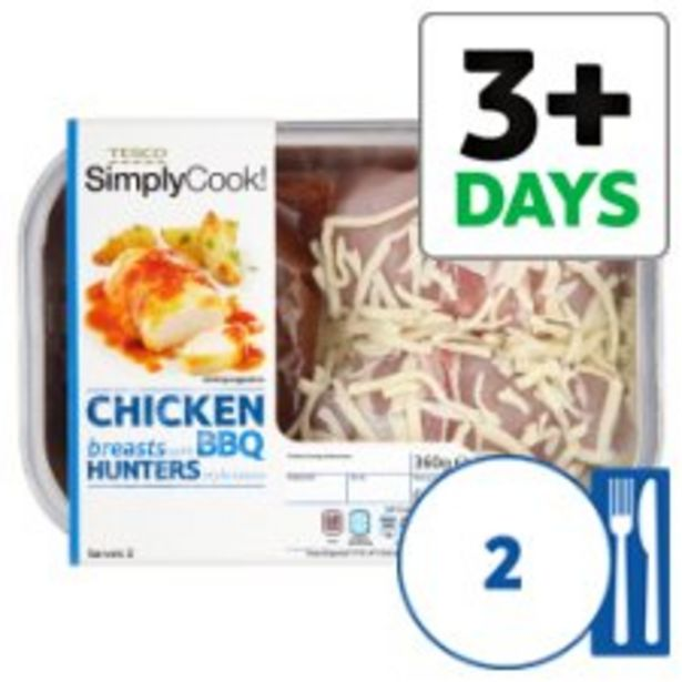Tesco 2 Hunters Chicken Breasts 430G offer at £3.75