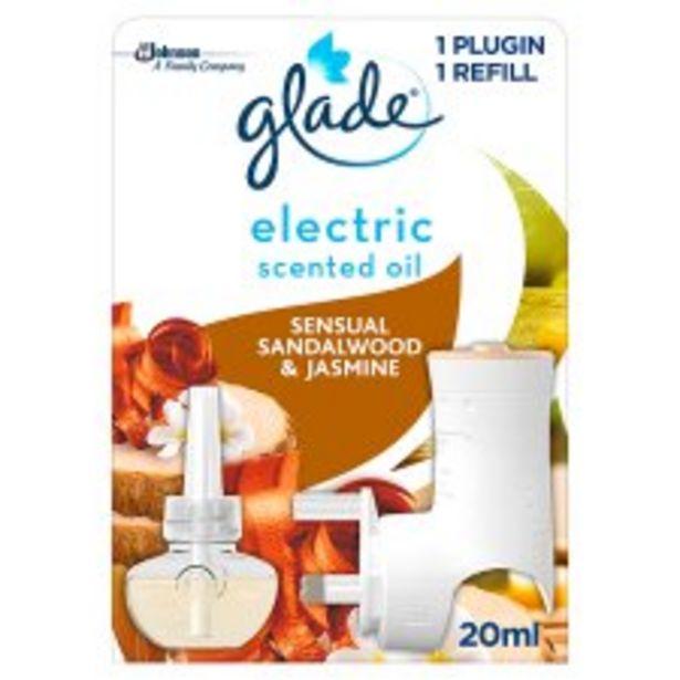 Glade Electric Sandalwood & Jasmine 20Ml offer at £3.5