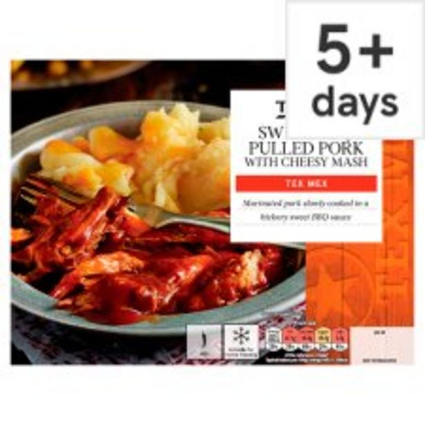 Tesco Bbq Pulled Pork With Cheesy Mash 450G offer at £2.5