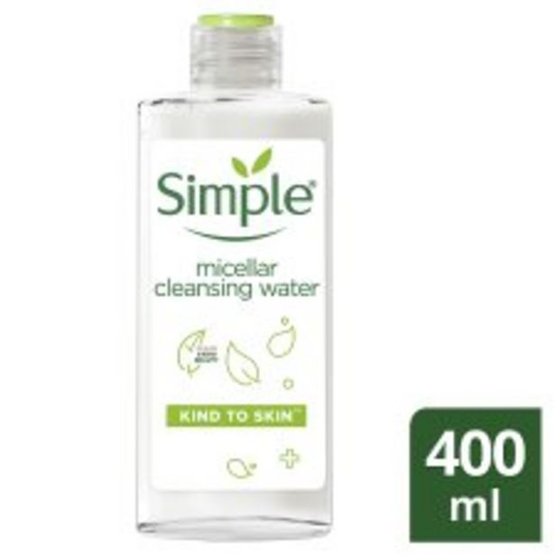 Simple Kind To Skin Micellar Cleansing Water 400Ml offer at £3