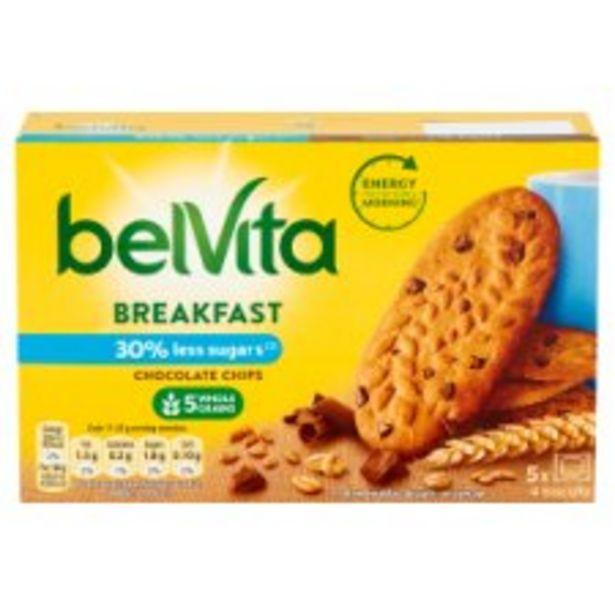 Belvita Breakfast Reduced Sugar Chocolate Chips Biscuit 5 Pack 225G offer at £0.99