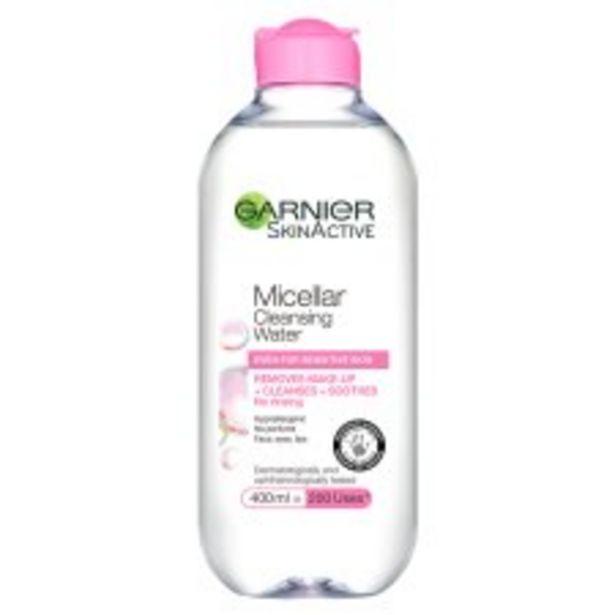 Garnier Micellar Water Sensitive 400Ml offer at £6