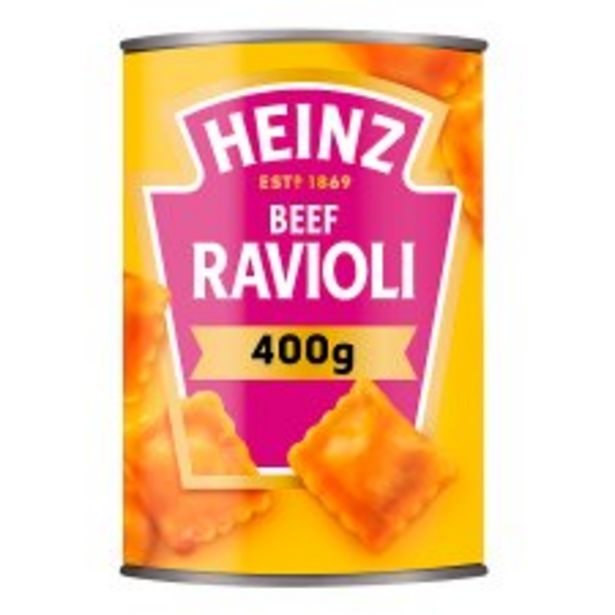 Heinz Ravioli In Tomato Sauce 400G offer at £1.25