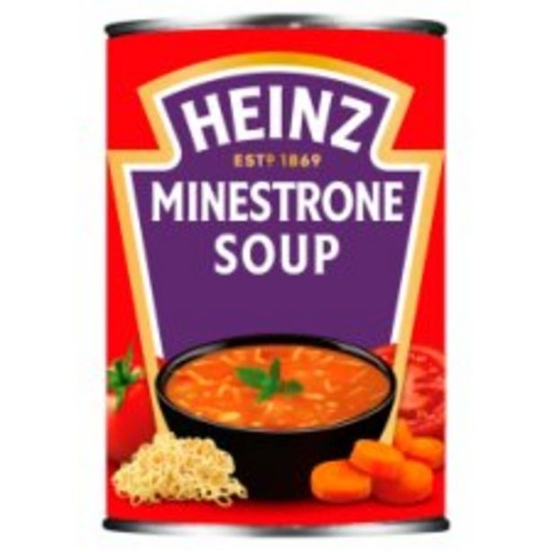 Heinz Minestrone Soup 400G offer at £0.95
