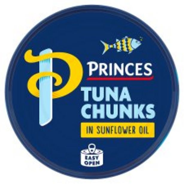 Princes Tuna Chunks In Sunflower Oil 145G offer at £1.25