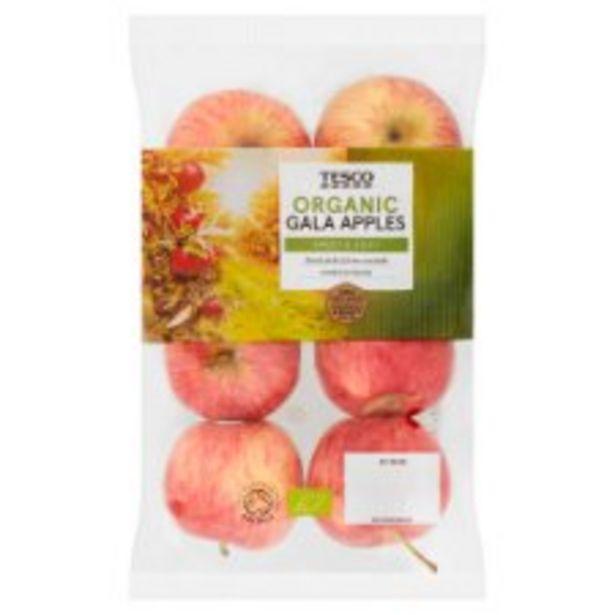 Tesco Organic Gala Apples 630G offer at £1.68
