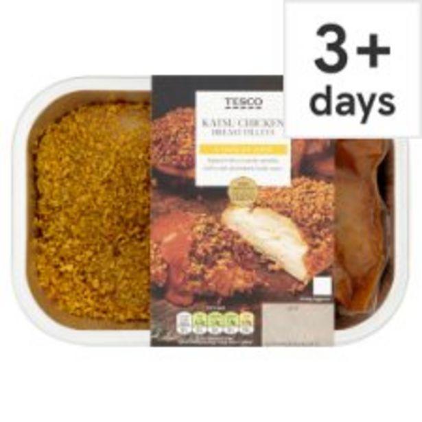 Tesco Katsu Chicken Breast Fillets 380G offer at £3.75