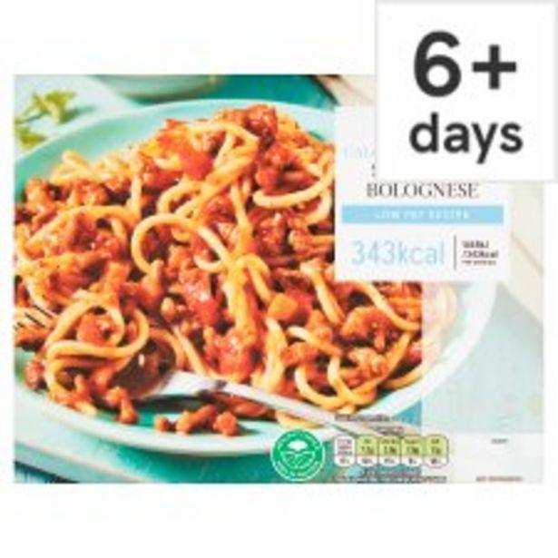 Tesco Diet Spaghetti Bolognese 380G offer at £2.5