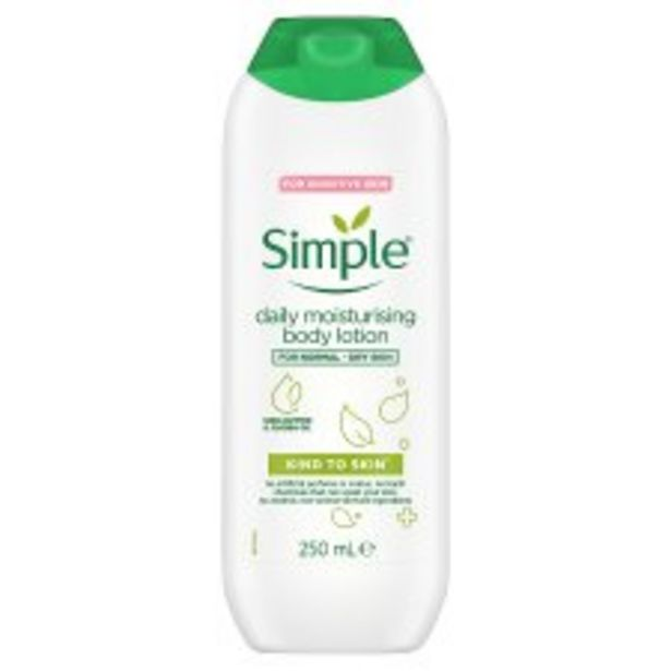 Simple Daily Moisturising Body Lotion 250Ml offer at £2.5