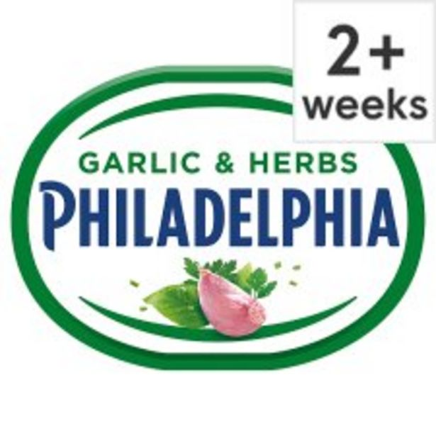 Philadelphia Soft Cheese With Garlic & Herb 170G offer at £1