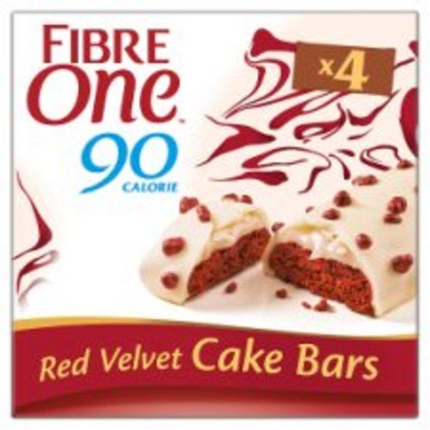 Fibre One Red Velvet Cake Bar 4 X 25G offer at £1.25