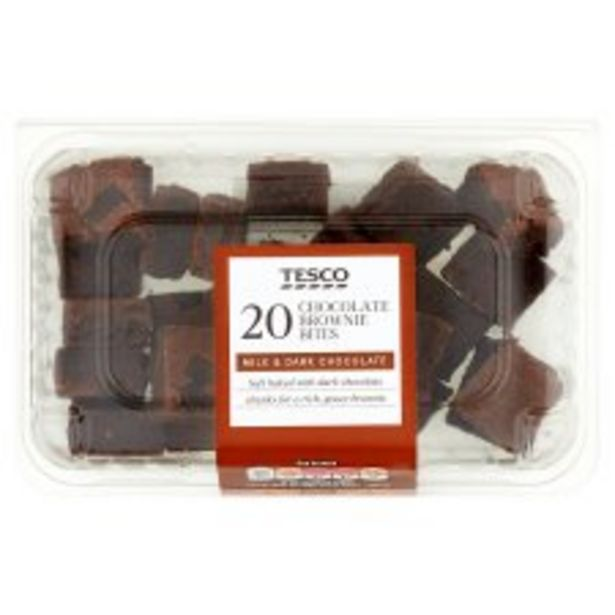 Tesco Chocolate Brownie Bites 20 Pack offer at £1.8