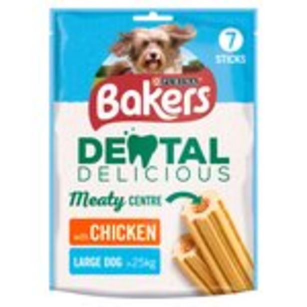 Bakers Dental Delicious Large Dog Treat Chicken offer at £2
