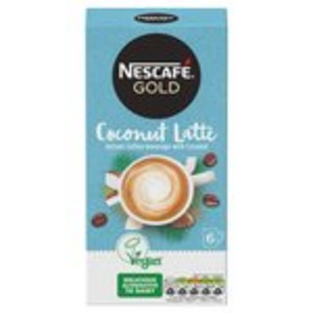 Nescafe Gold Non Dairy Coconut Latte Instant Coffee x 6 Sachets offer at £2