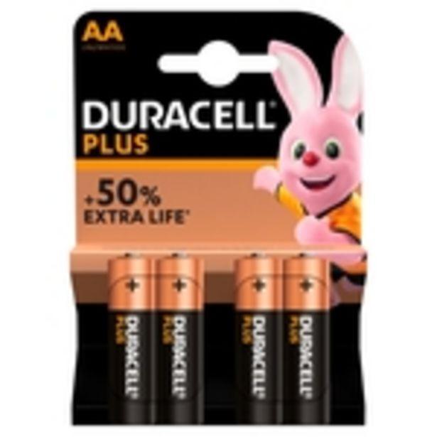 Duracell Plus Power AA Alkaline Batteries offer at £4