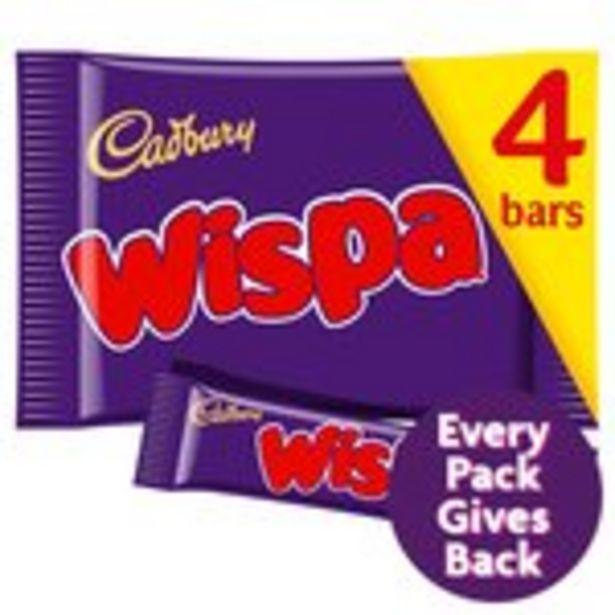 Cadbury Wispa Chocolate Bar 4 Pack offer at £1