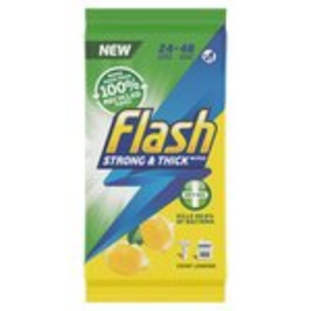 Flash Wipes Anti-Bac 24 Wipe & Go offer at £1