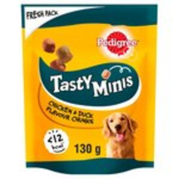 Pedigree Tasty Bites Chewy Cubes Dog Treats with Chicken offer at £1