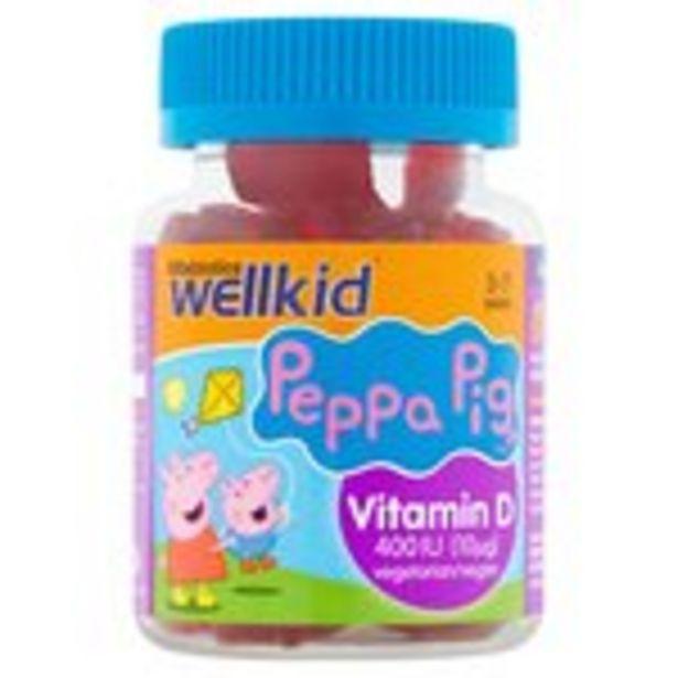 Vitabiotics Wellkid Peppa Pig Vitamin D 400Iu Soft Jellies offer at £4