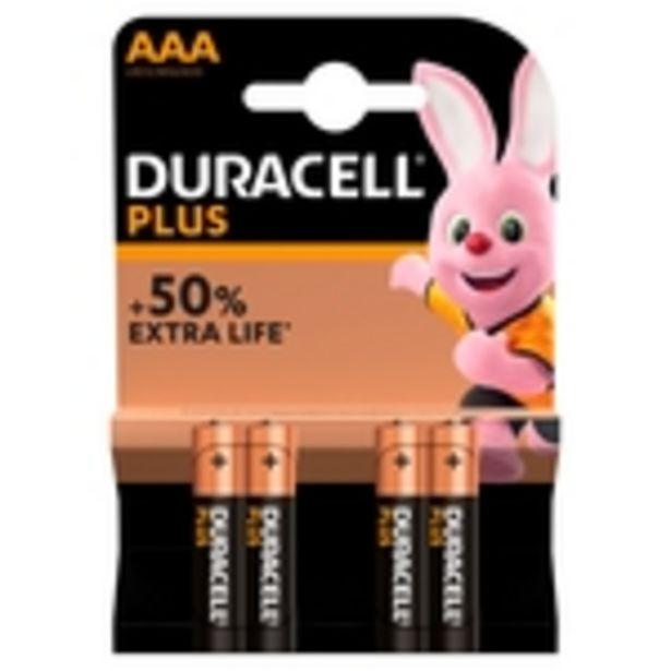 Duracell Plus Power AAA Alkaline Batteries offer at £4