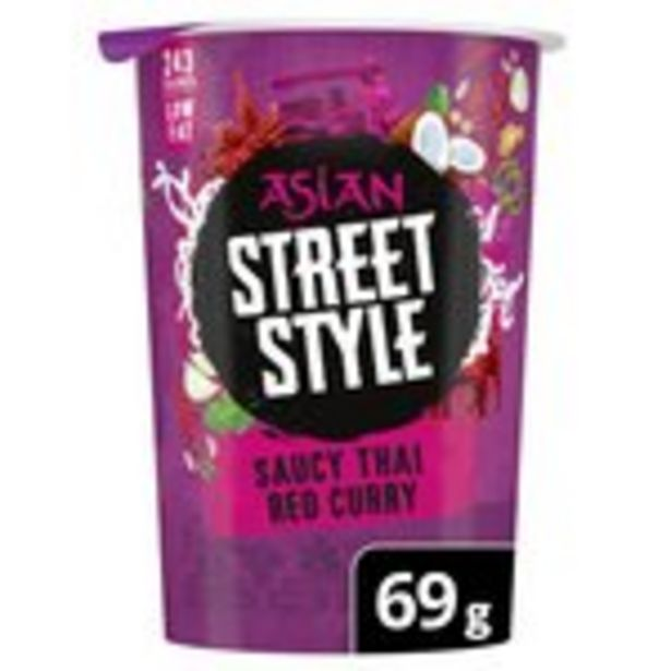 Pot Noodle Asian Street Style Thai Red Curry offer at £1