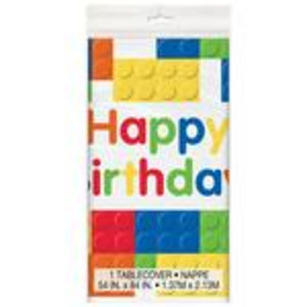 Building Blocks Plastic Table Cover offer at £2.45