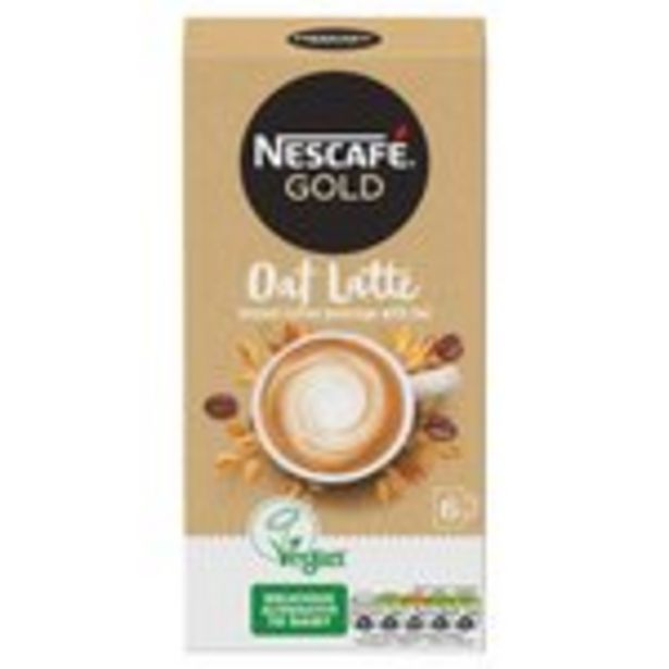 Nescafe Gold Non Dairy Oat Latte Instant Coffee x 6 Sachets offer at £2