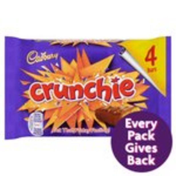 Cadbury Crunchie Chocolate Bar 4 Pack offer at £1