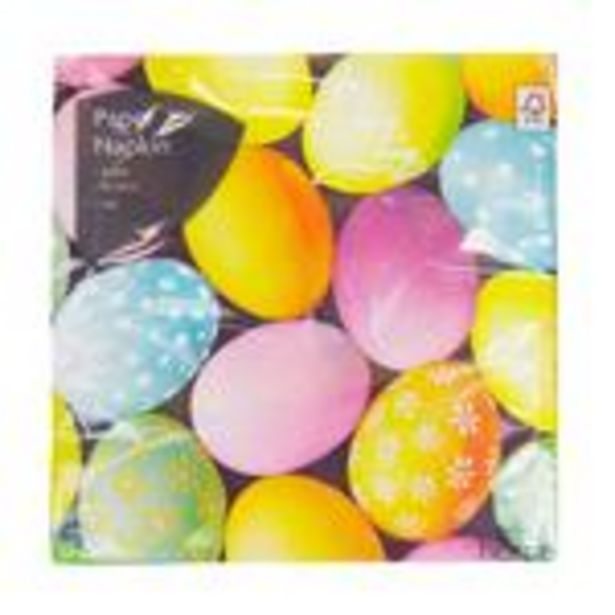 Morrisons Photographic Easter Eggs Napkins offer at £0.75