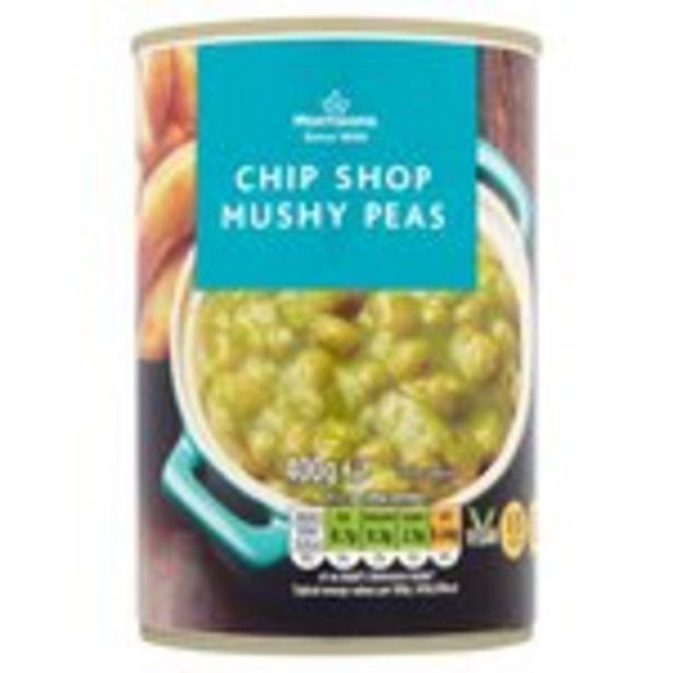 Morrisons Chip Shop Mushy Peas With Mint offer at £0.29