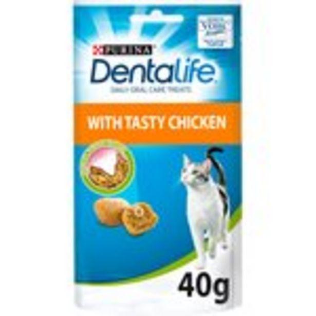Dentalife Dental Treats For Cats Chicken 40G offer at £1