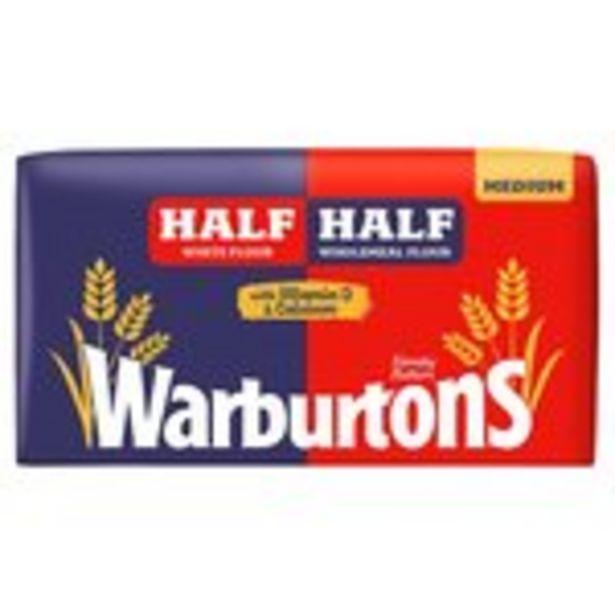 Warburtons Half And Half Medium Bread offer at £0.75