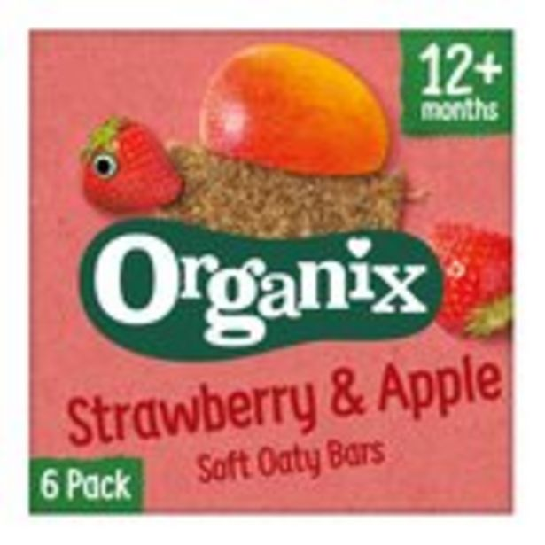 Organix Strawberry Organic Soft Oat Snack Bars Multipack offer at £2