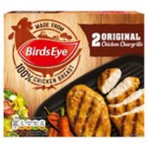 Birds Eye 2 Original Chicken Chargrills  offer at £0.99