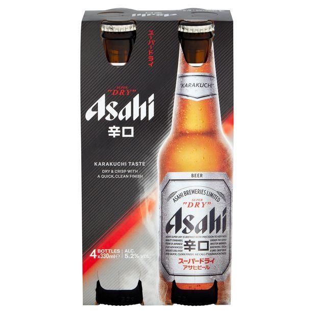 Asahi Super Dry Beer 4 x 330ml offer at £4.99