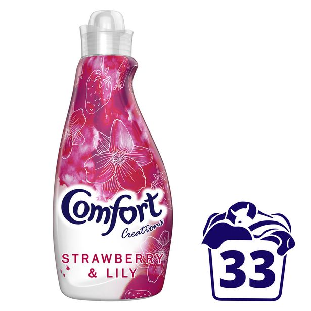 Comfort Strawberry & Lily Fabric Conditioner 33 Wash offer at £2