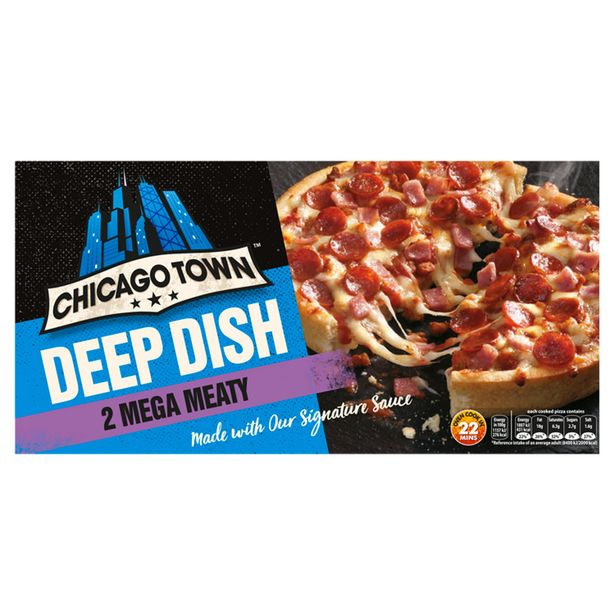 Chicago Town 2 Deep Dish Mega Meaty Pizzas (320g) offer at £1