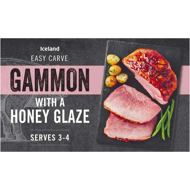 Iceland Gammon with a Honey Glaze 600g offer at £3