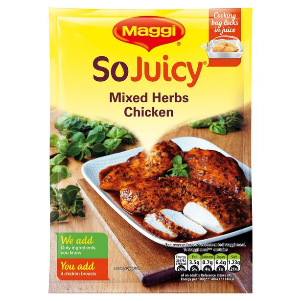 Maggi So Juicy Mixed Herbs Chicken 30g offer at £0.9