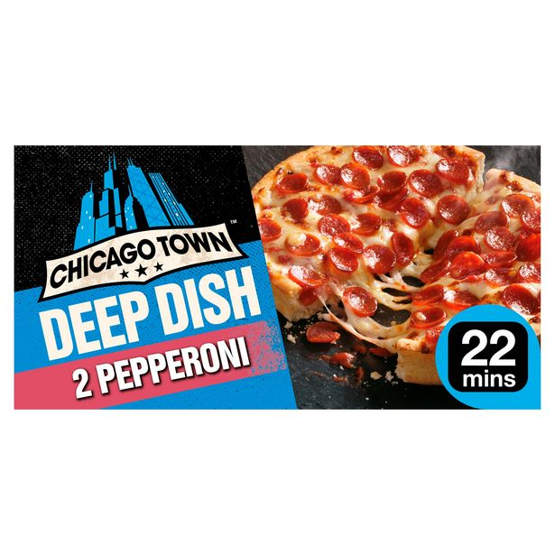 Chicago Town 2 Deep Dish Pepperoni Pizzas (2 x 160g) offer at £1