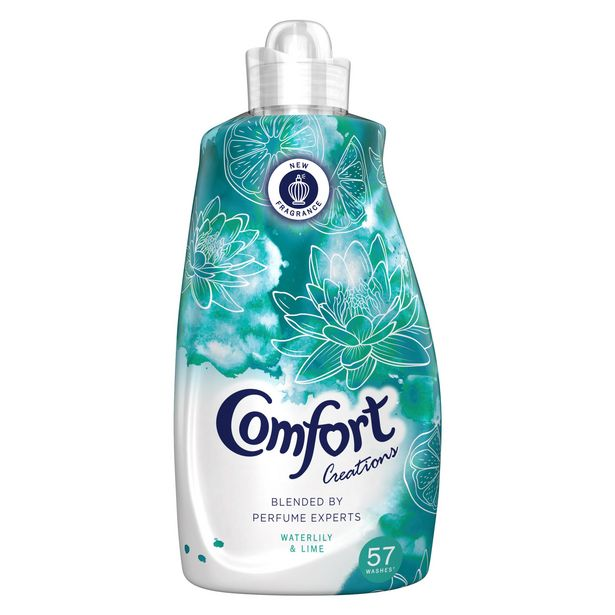 Comfort Waterlily & Lime Fabric Conditioner 57 Wash 1.995 L offer at £5