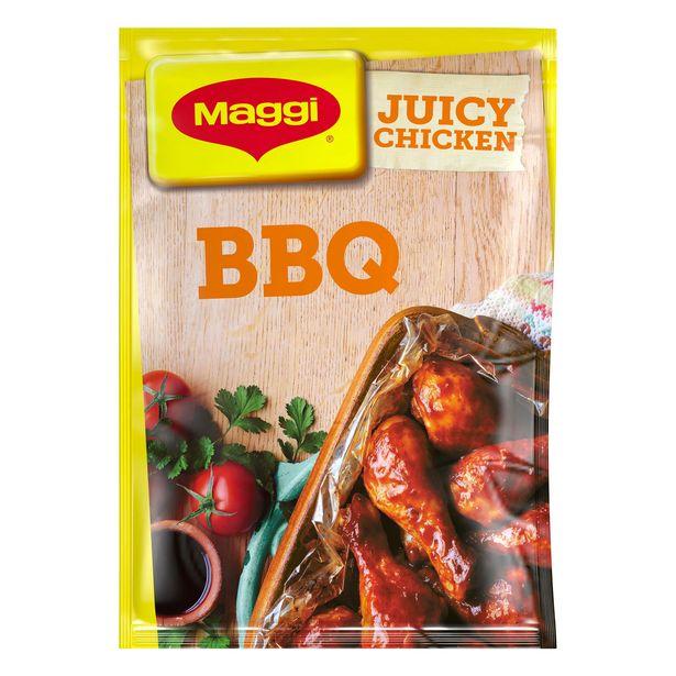 MAGGI Juicy Sticky BBQ Chicken Recipe Mix 47g offer at £0.9