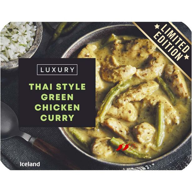 Iceland Luxury Thai Style Green Chicken Curry 400g offer at £2.69