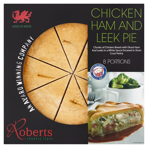 Roberts Country Fayre Chicken Ham & Leek Pie offer at £12