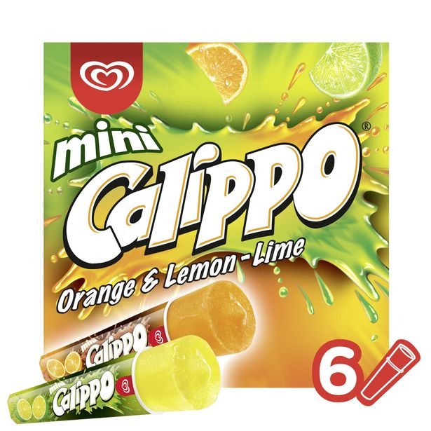 Calippo Orange & Lemon-Lime Ice Lollies 6 x 80 ml offer at £2