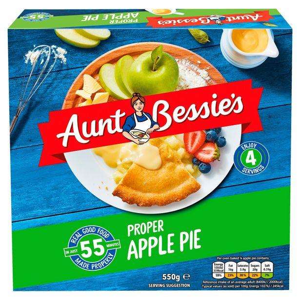 Aunt Bessie's Proper Apple Pie 550g offer at £1